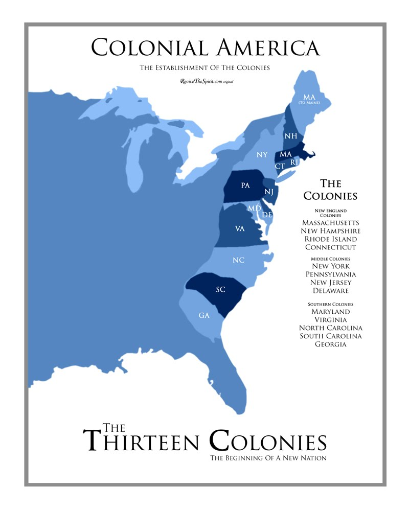 Make Your Own Colonies Map Colonies Hawken Quiz By - Colonial us map