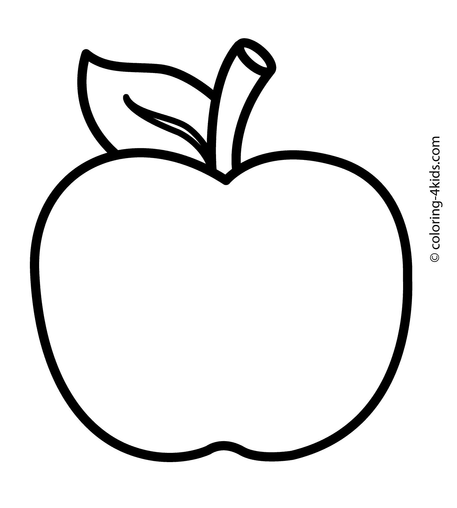 apple coloring pages kids - photo#10