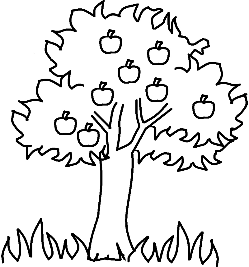 Apple Coloring Pages