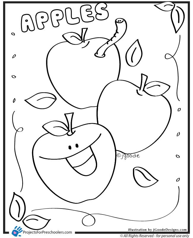 Apple Coloring Pages Fotolipcom Rich Image And Wallpaper