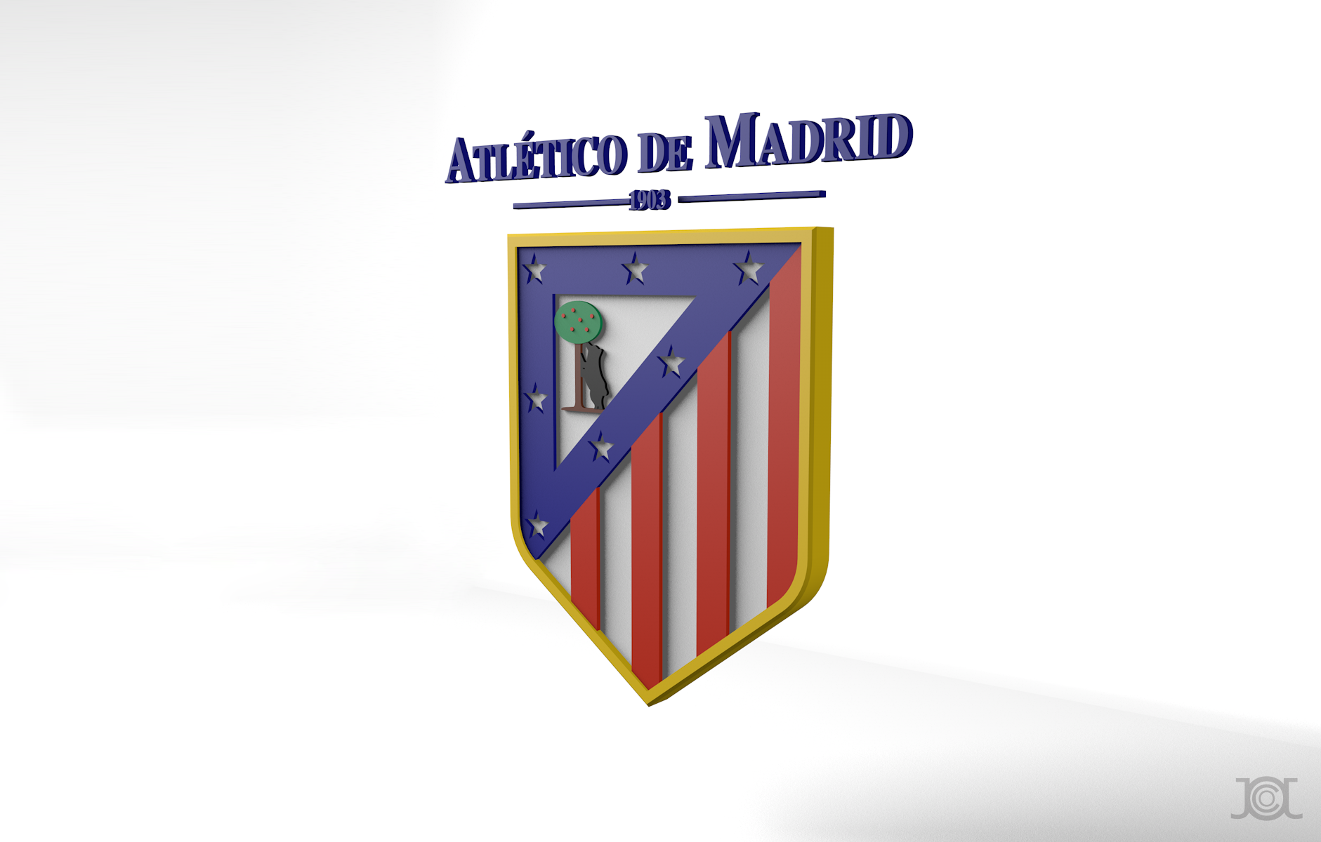 Atletico Madrid logo | Fotolip.com Rich image and wallpaper