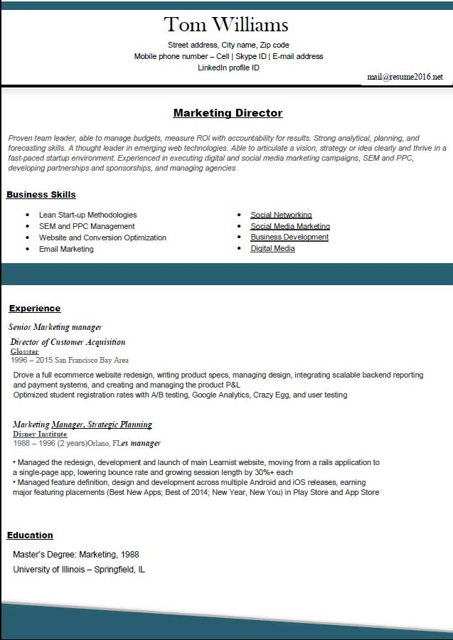 Best Resume Format 2016 | Fotolip.Com Rich Image And Wallpaper