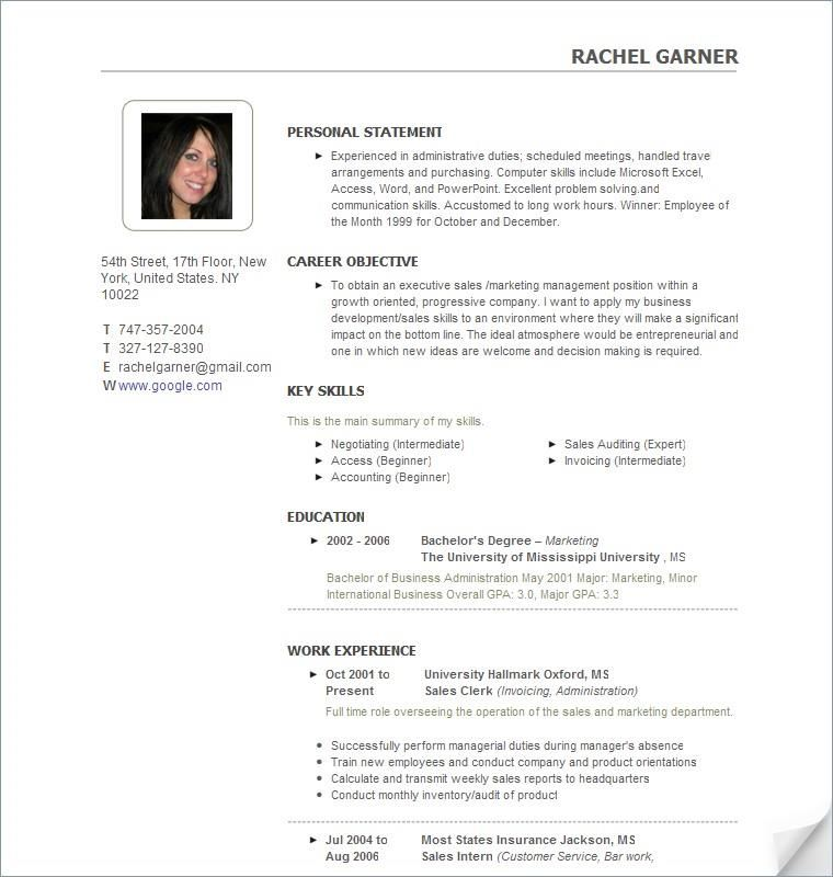 sample comprehensive resume format simple sample resume format - Copy Of A Resume Format
