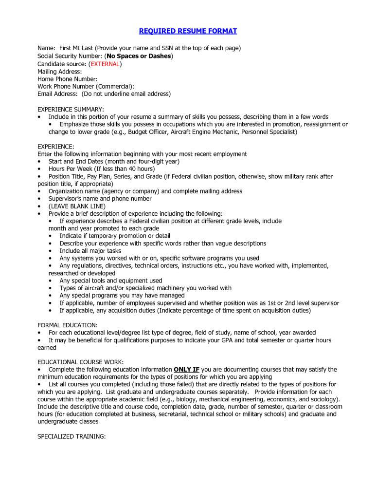 Best Resume Format