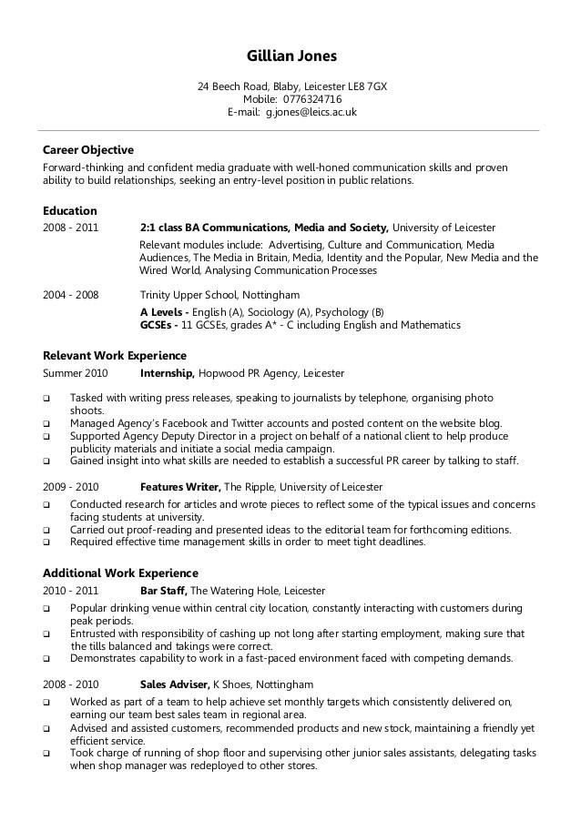 Academic Resume Resume Professional Profile Sample Sample