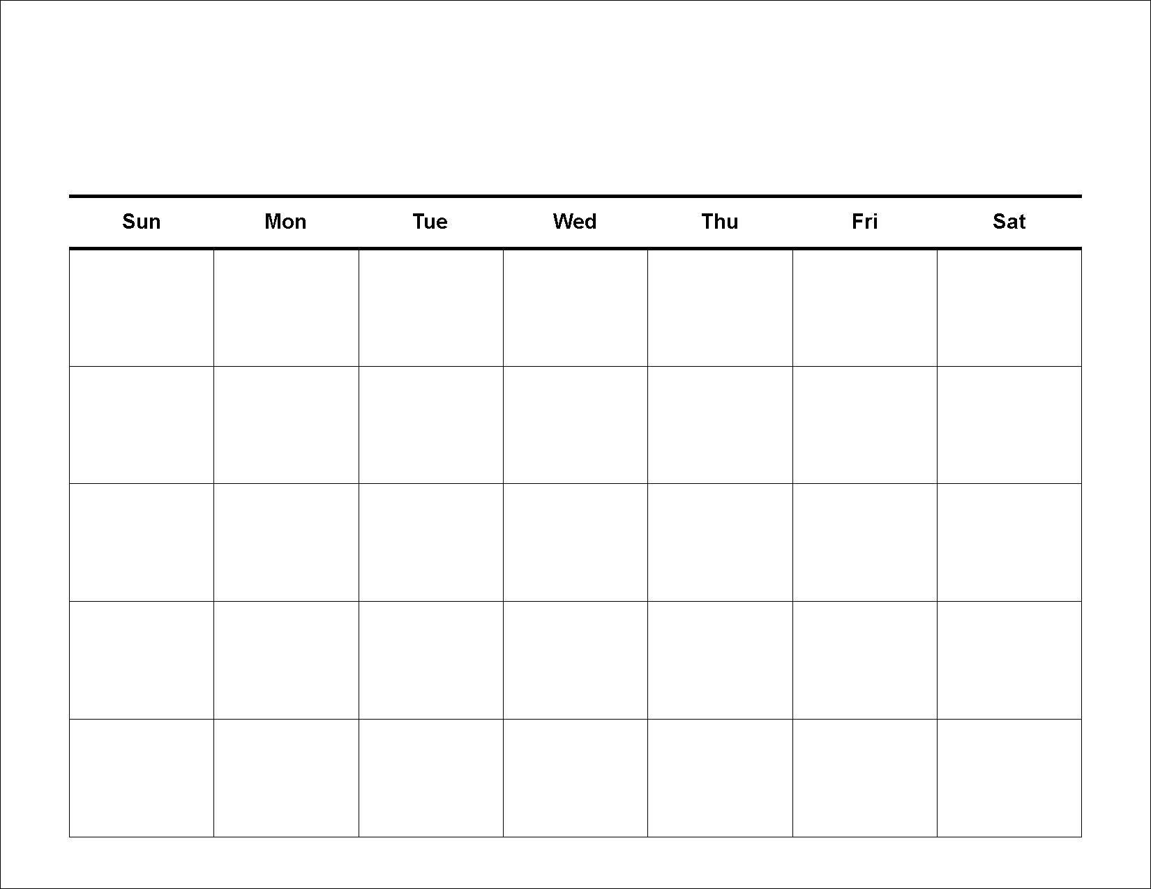 sample calendar template