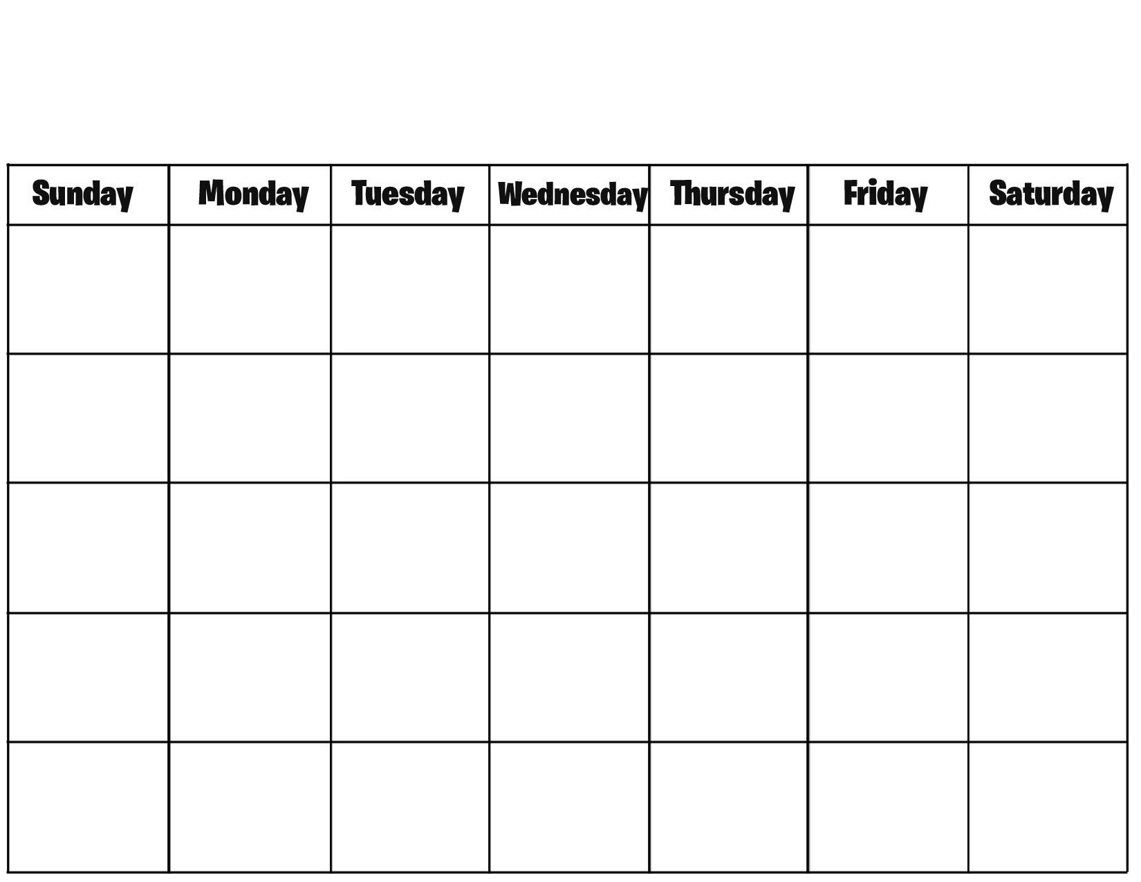 Blank Calendar Template - Fotolip