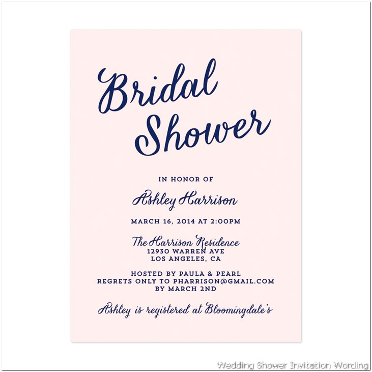 bridal shower invitation wording | fotolip rich image and, Wedding invitations