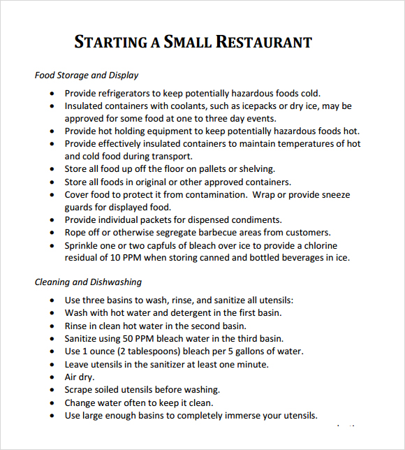 A Sample Cocktail Bar Business Plan Template
