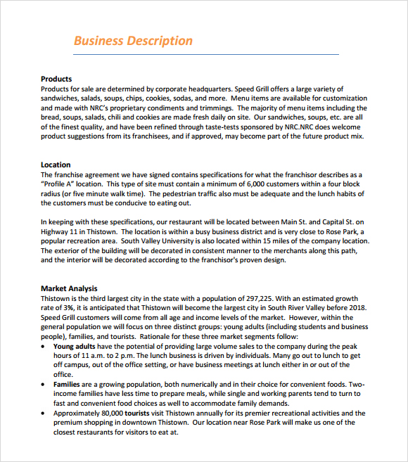 A Sample Sushi Restaurant Business Plan Template