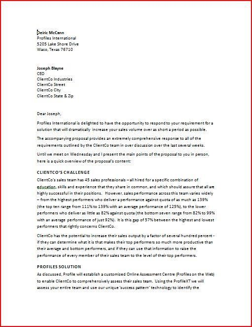 Business Proposal Template BusinessProposalTemplateWord