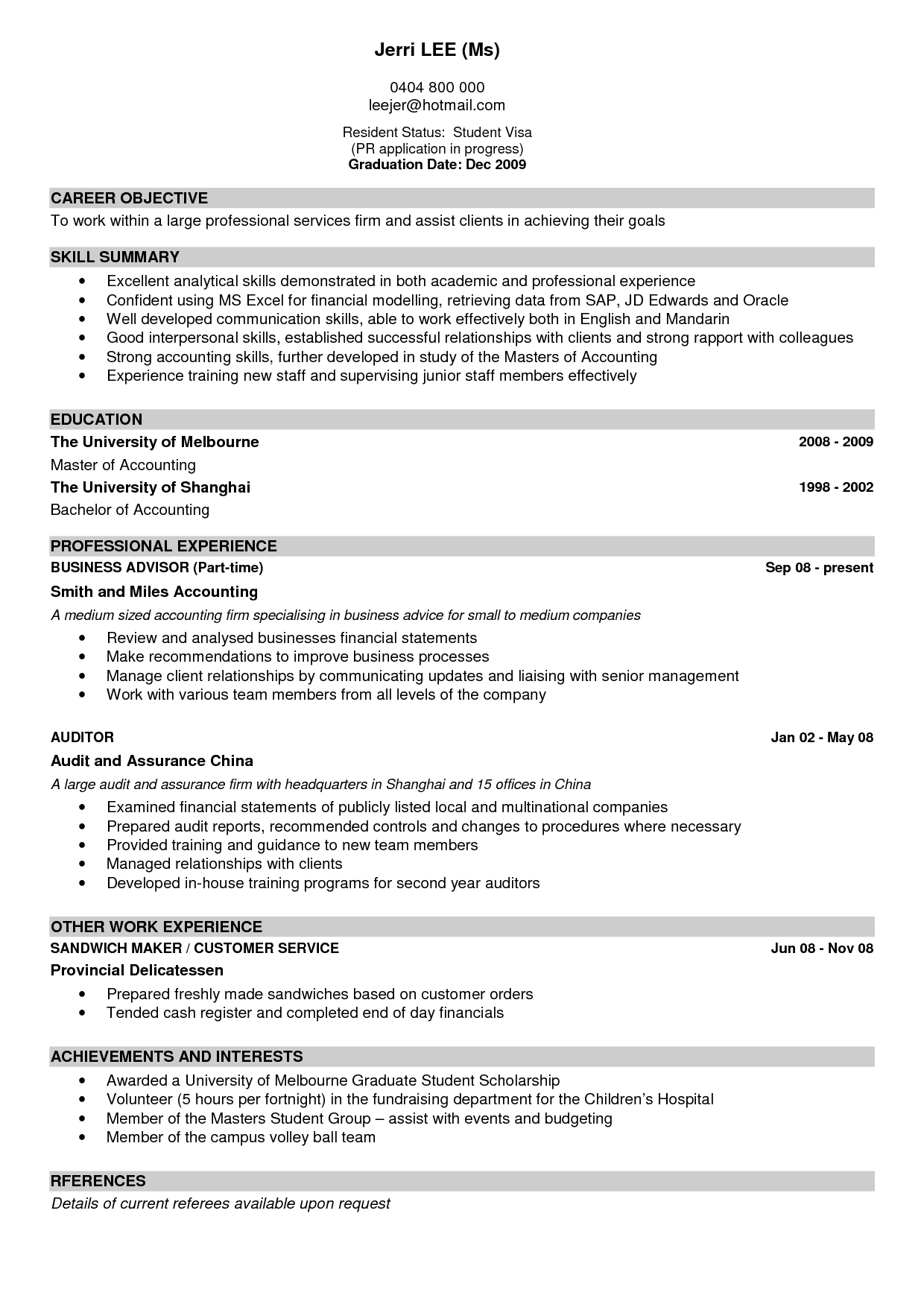 100 [ Resume Sample Waitress ]