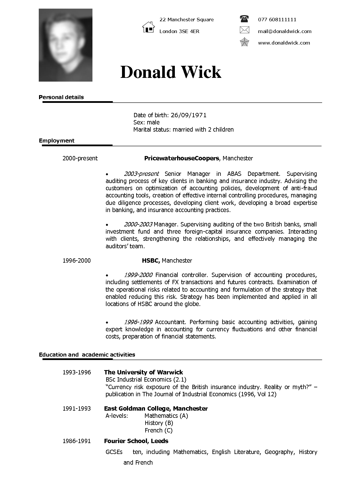 english curriculum vitae template koni polycode co