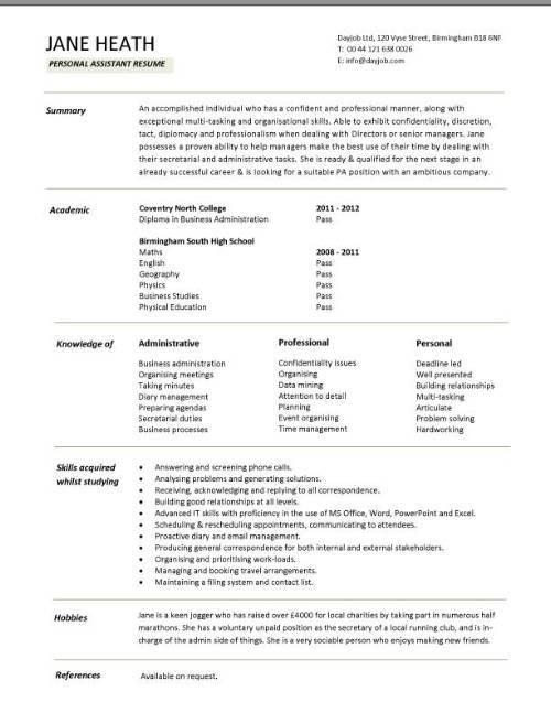 Cv Administrative Assistant Administrative Assistant Cv