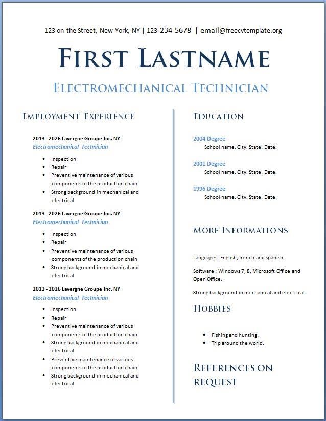 free resume template download download resume template free template free resume template download resume english template - Free Resume Download Template