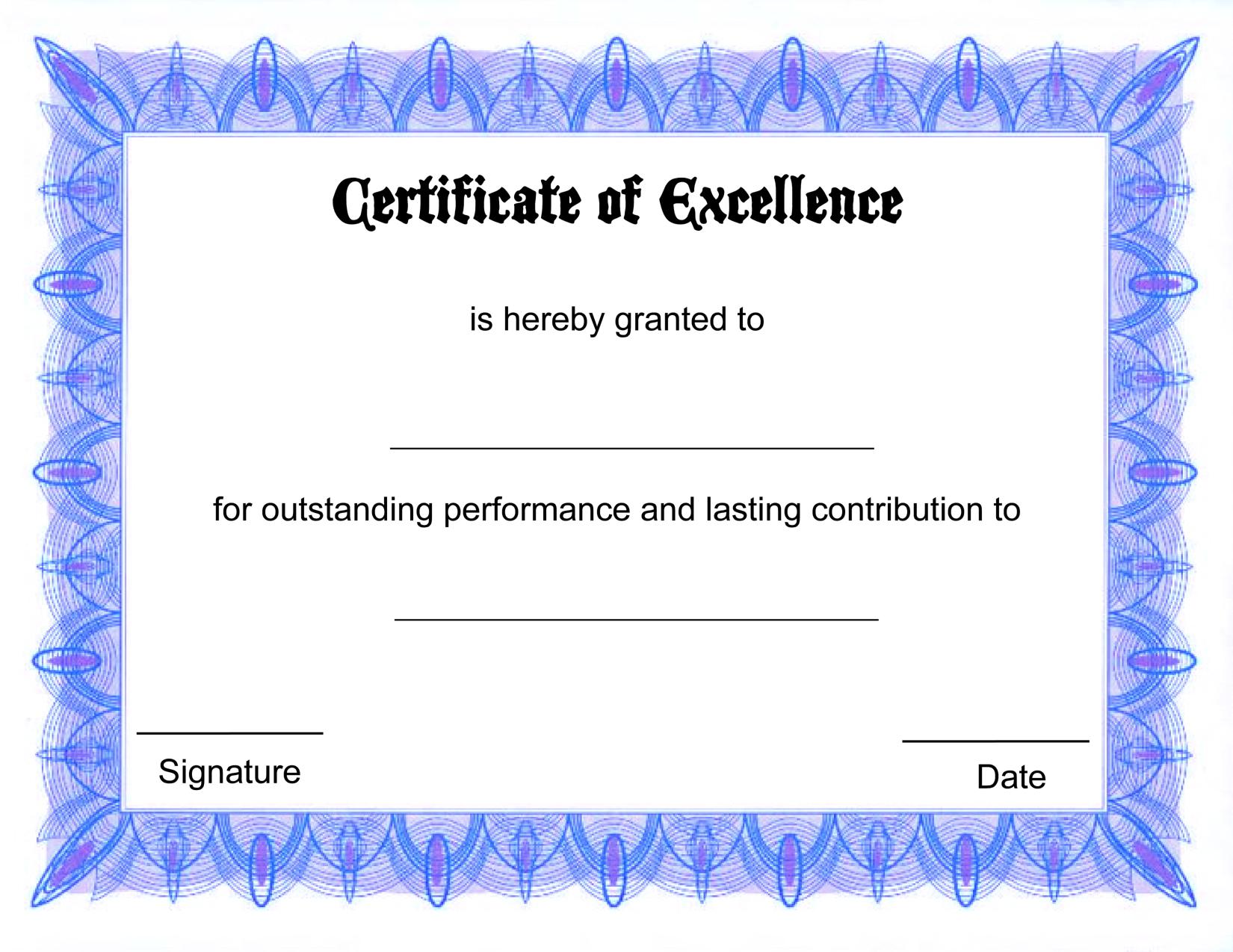 This is an image of Astounding Printable Award Template