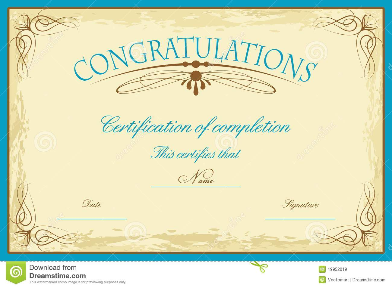 Certificate templates rich image and wallpaper for Certificate of completion template free download
