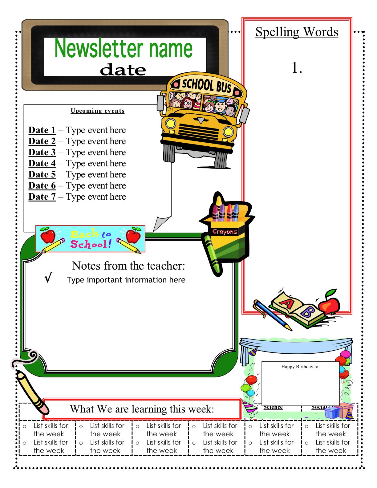 Classroom newsletter template fotolip rich image and wallpaper classroom newsletter template maxwellsz