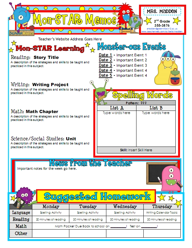 Classroom Newsletter Template  FotolipCom Rich Image And Wallpaper
