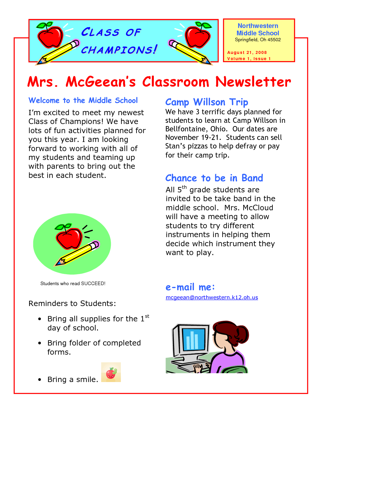 Clroom-Newsletter-Template-8 Teacher Newsletter Templates Free on