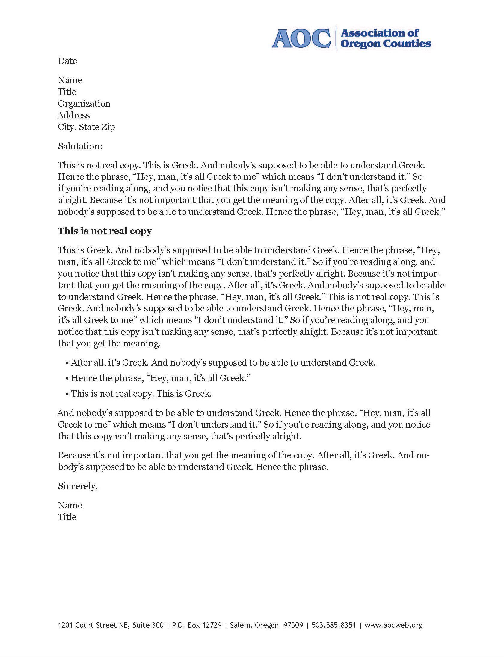Company Letter Head
