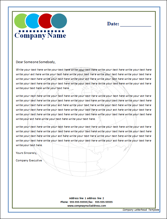 Company letterhead template fotolip rich image and wallpaper spiritdancerdesigns Choice Image