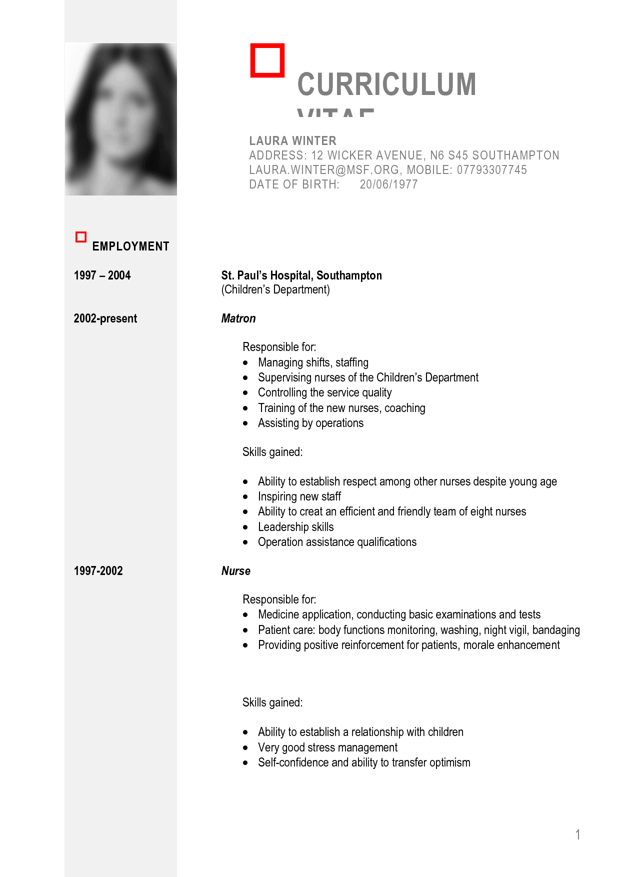 Cv Template  South Africa  Fresh Essays