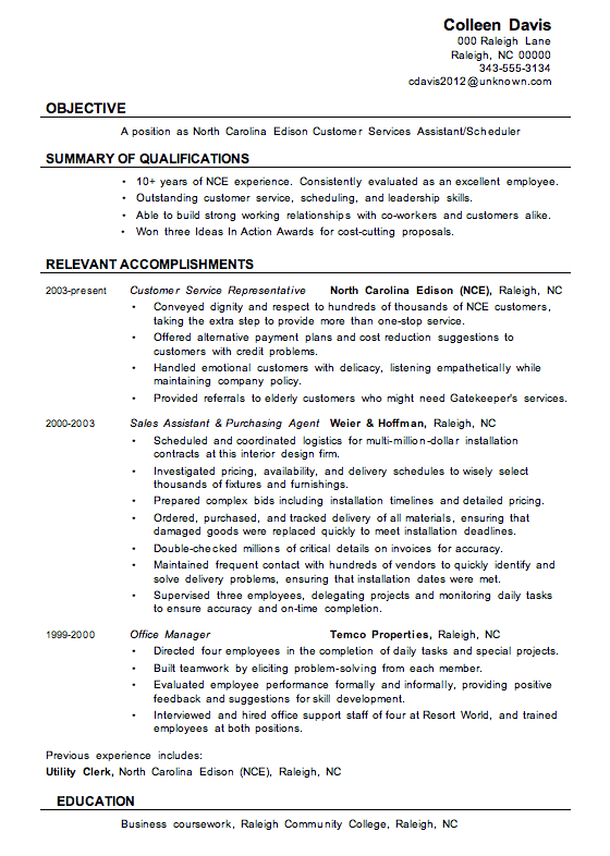 customer service resume leadership skills resume