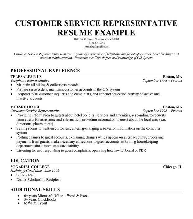 customer service resume fotolip com rich image and wallpaper - Free Customer Service Resume Templates
