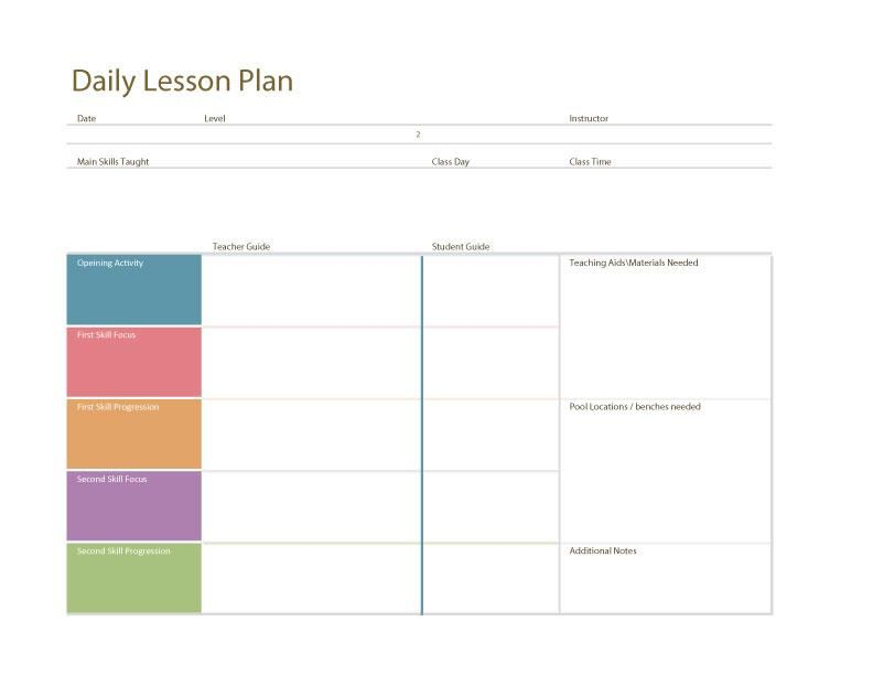 Daily Lesson Plan Template  FotolipCom Rich Image And Wallpaper