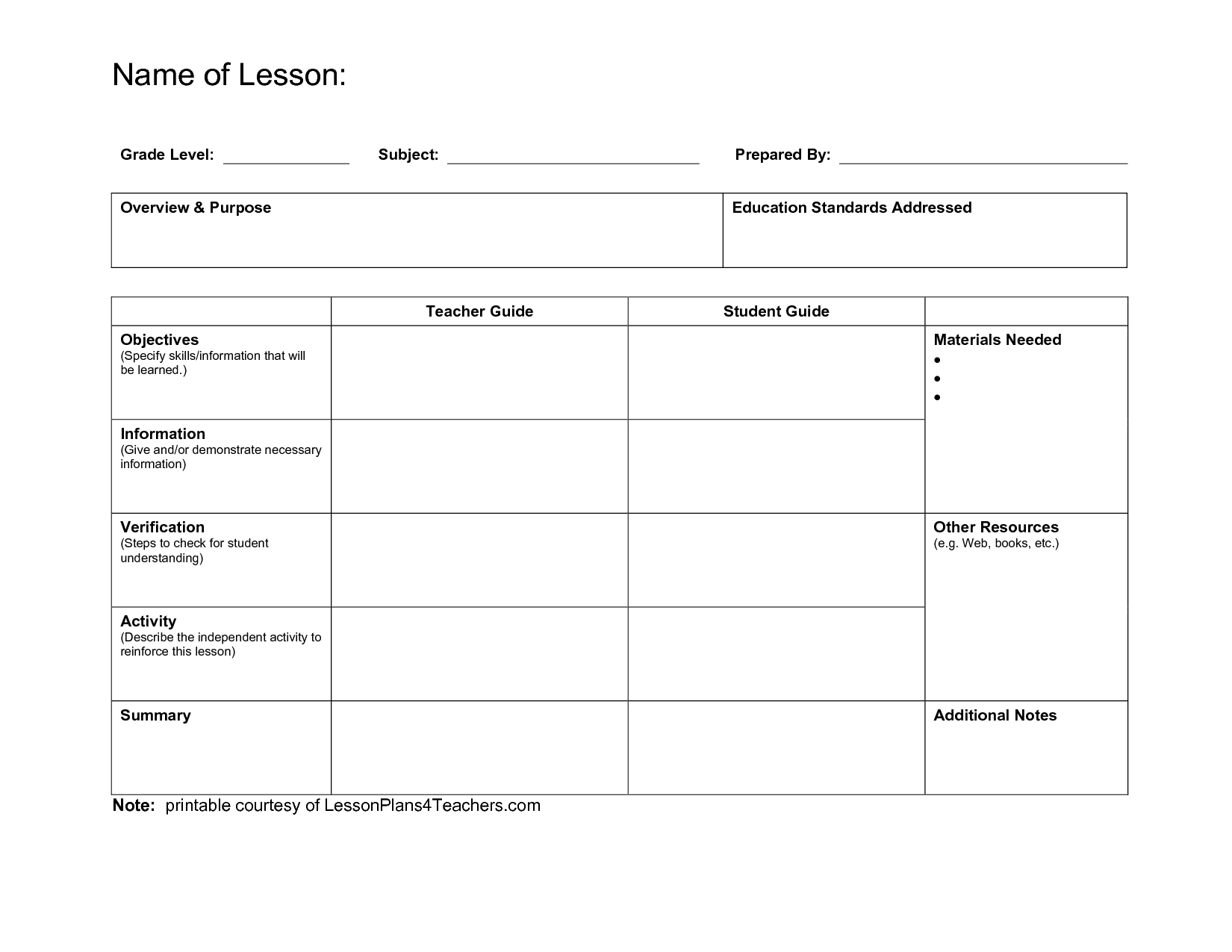 Daily Lesson Plan Template Fotolipcom Rich Image And Wallpaper - Blank daily lesson plan template