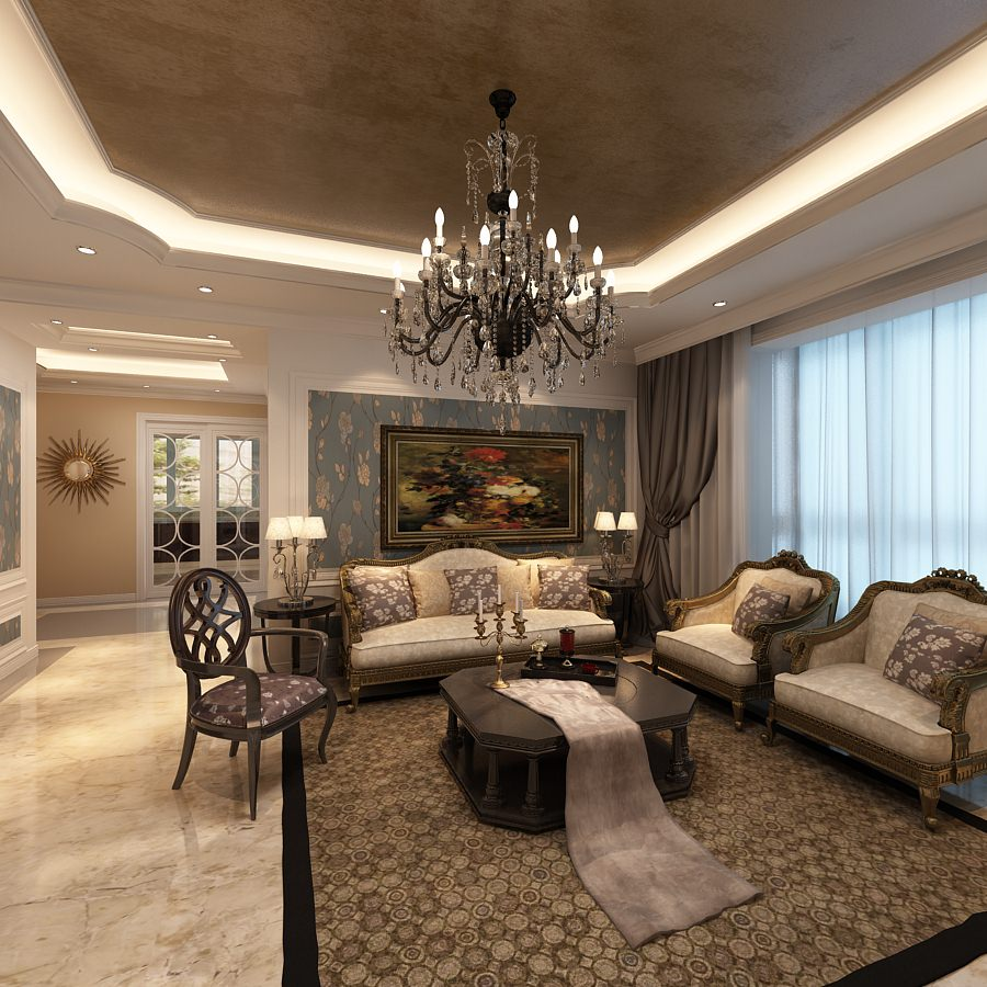 Elegant living room ideas rich image and for Decorated living rooms photos