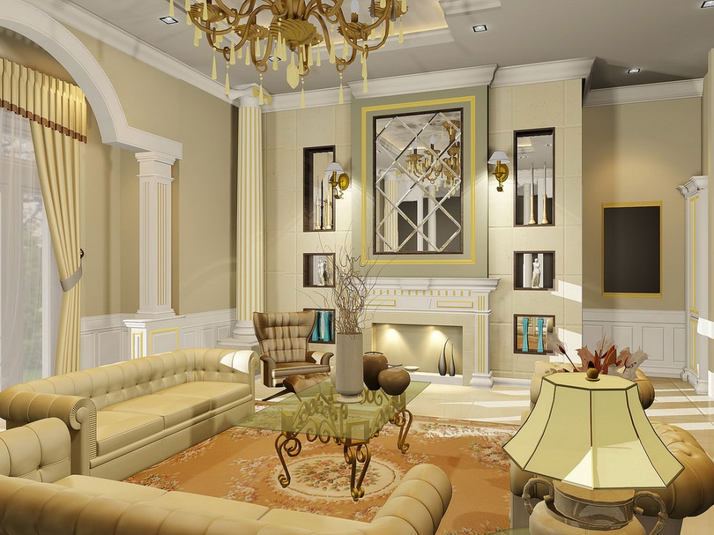 Elegant living room ideas rich image and - Modern classic design interior ...