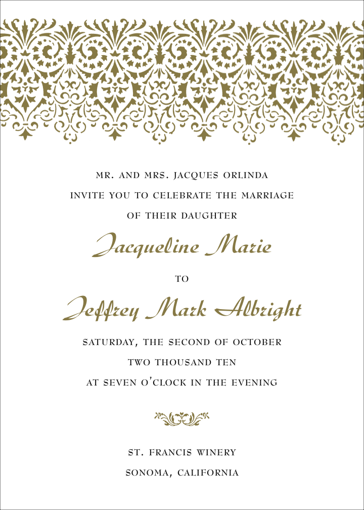 Formal wedding invitation wording fotolip rich image and wallpaper formal wedding invitation wording stopboris Image collections
