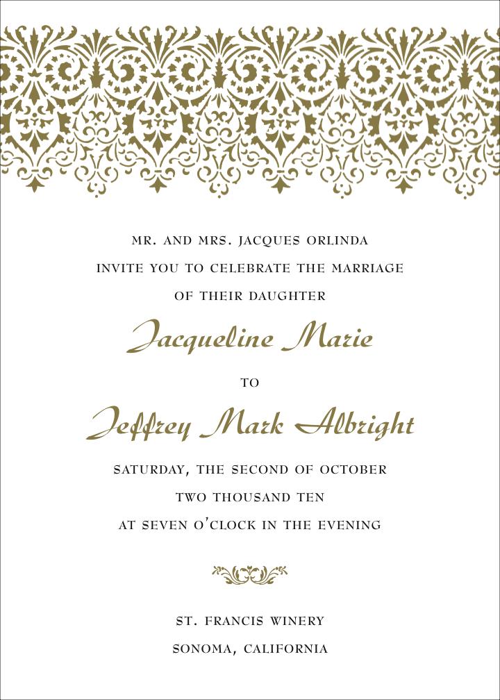 Wedding Invite Text Samples