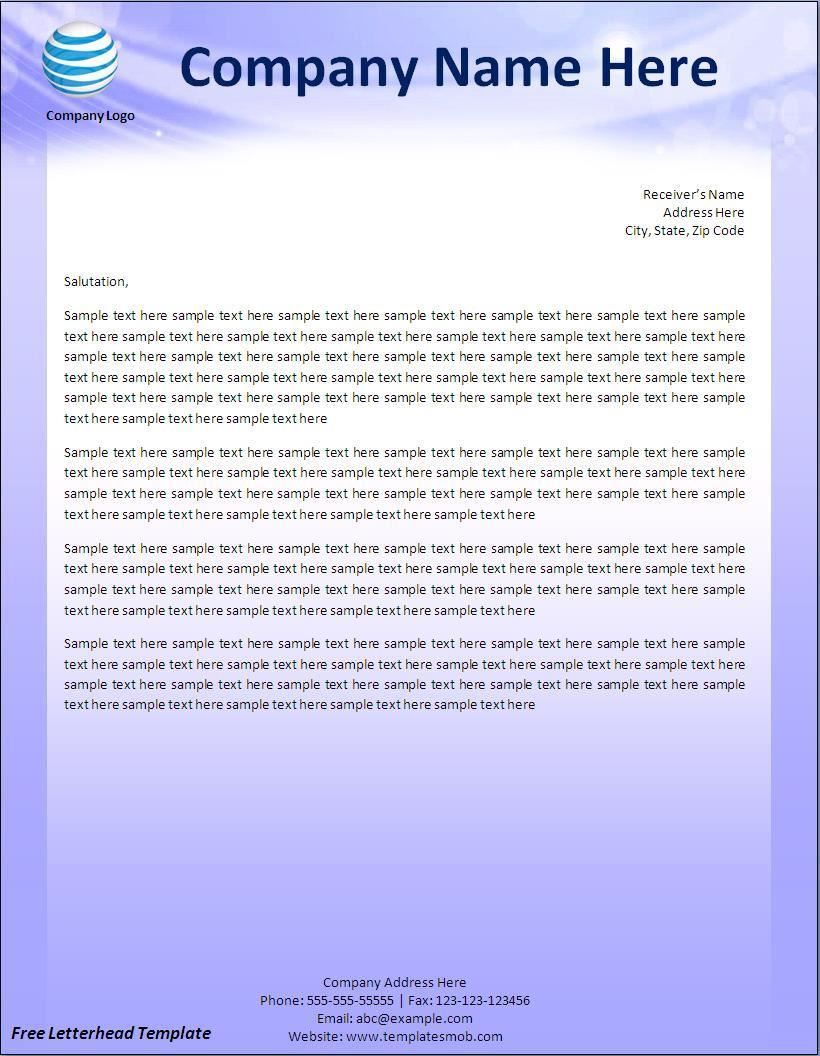Free Letterhead Templates Fotolip Com Rich Image And