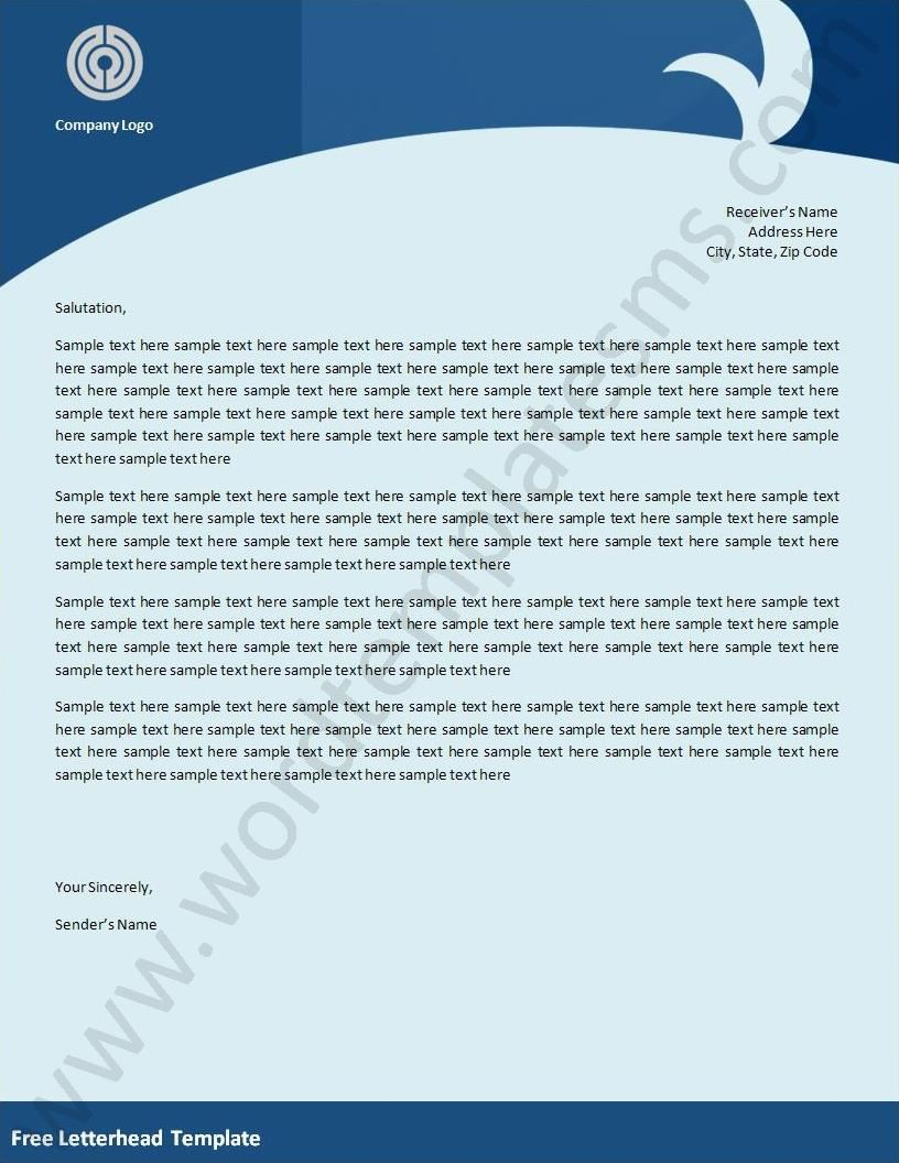 free letterhead templates fotolip   rich image and
