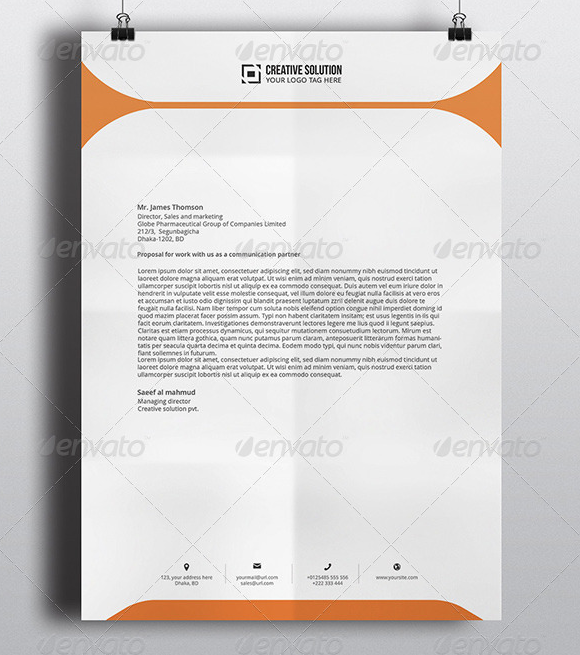 29 Corporate Letterhead Templates Doc Psd: Fotolip.com Rich Image And