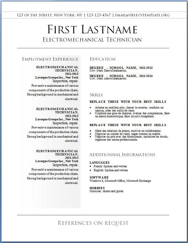 Basic Resume Templates | Download Resume Templates 20+ Best Ideas