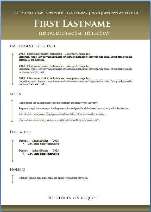 Free Open Office Resume Templates Open Office Resume Template With
