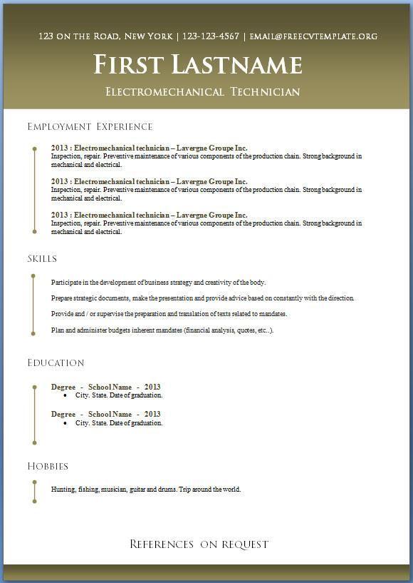 Open Office Resume Builder Resume Template Open Office Get Free