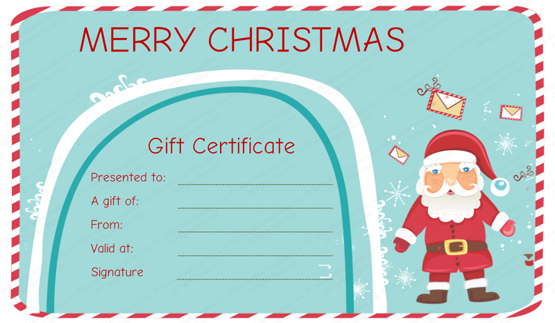holiday gift certificate template free printable - gift certificate template rich image and