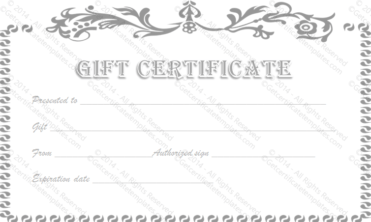 Gift Certificate Template | Fotolip.com Rich image and ...