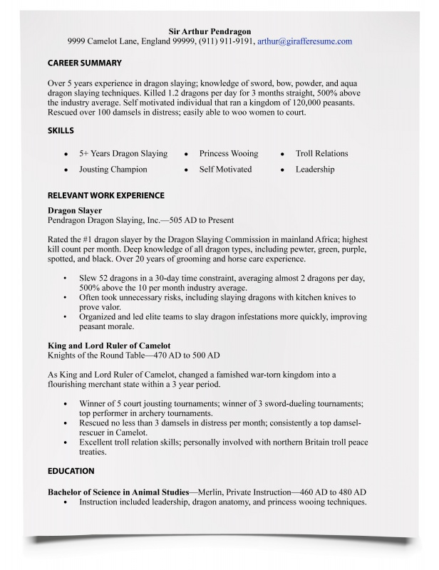 writing a resume