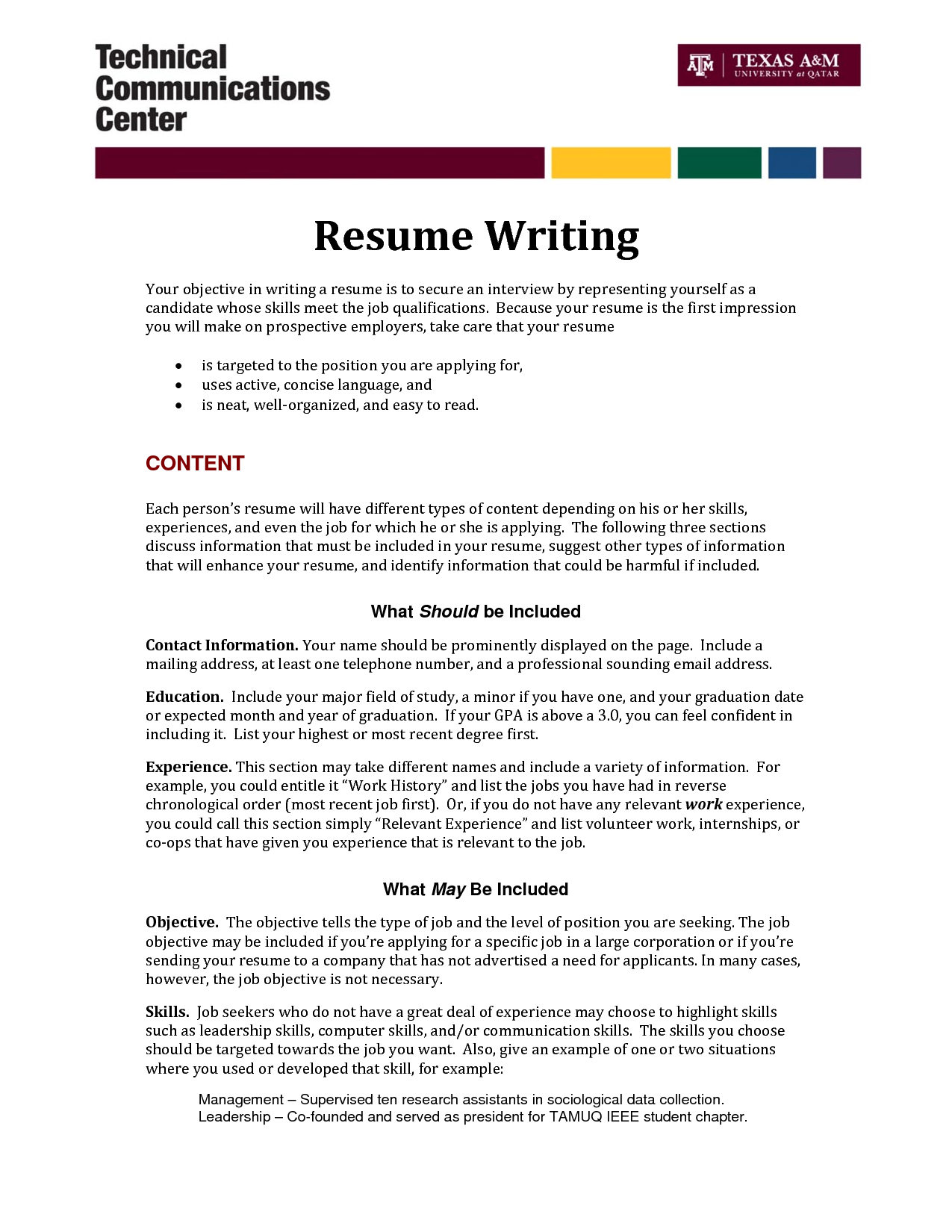 how to write objective for resume