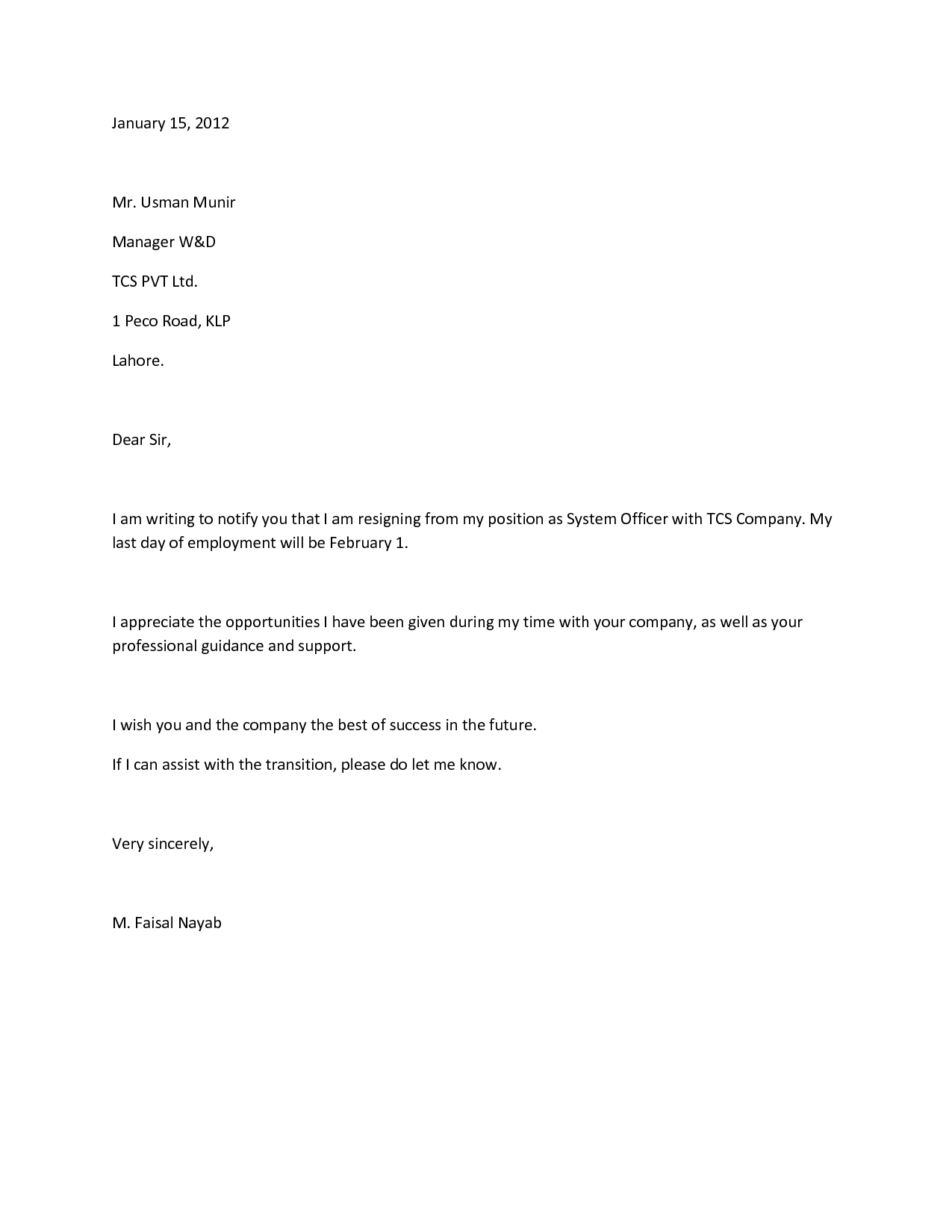 how to write a quitting letter Use this letter exactly as it is, edit it any way you like, or just write your own letter the letter can sample resignation letter note.