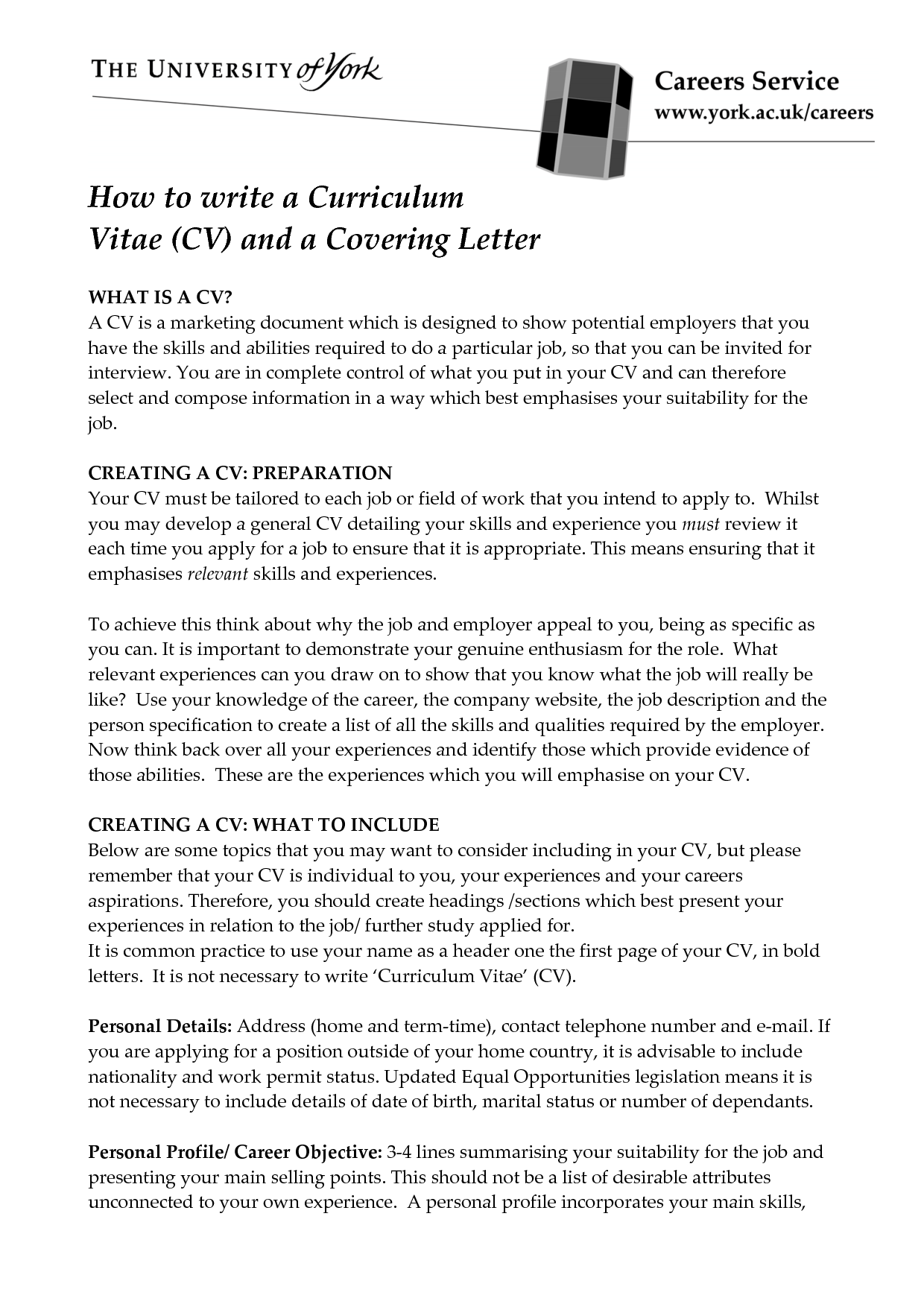 How to write a CV?