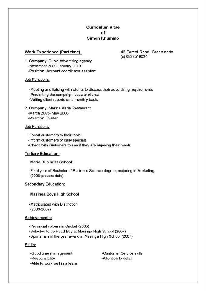 WordPress Developer CV Example