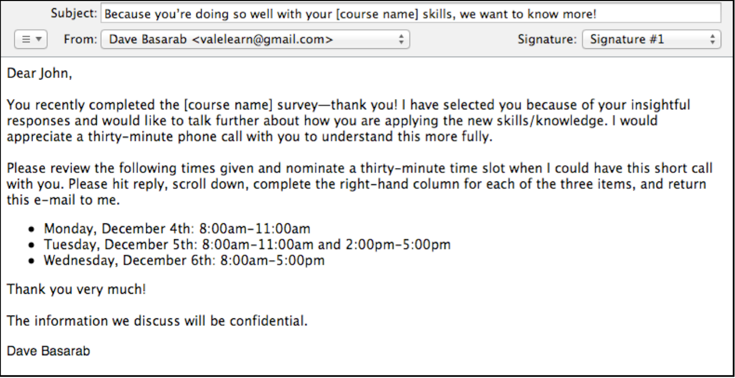Interview Invitation