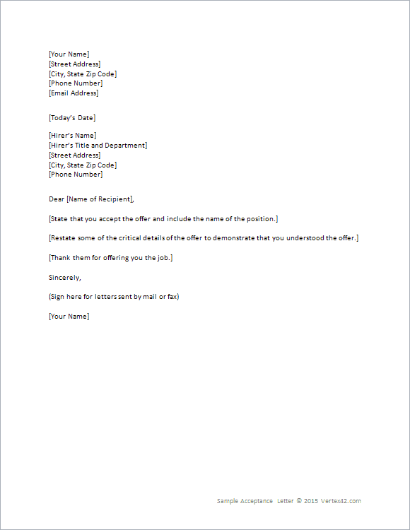Job Offer Letter Template Fotolip Com Rich Image And